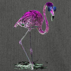 Miami Neon Pink Flamingo Sonnenbrille Galaxie - Schultertasche aus Recycling-Material