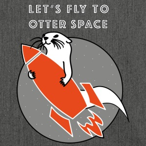 LET'S FLY Otter SPACE ORANGE RAKET - Axelväska av återvinningsmaterial
