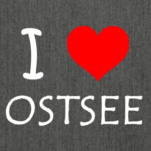 I Love Ostsee - Schultertasche aus Recycling-Material