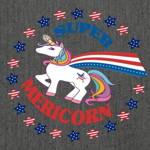 Super Mericorn - American Unicorn - 4th of July - Shoulder Bag made from recycled material