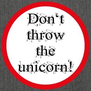 Don't throw the unicorn! - Schultertasche aus Recycling-Material