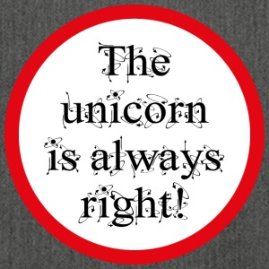 The unicorn is always right! - Shoulder Bag made from recycled material
