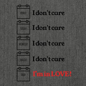 I do not care - Shoulder Bag made from recycled material