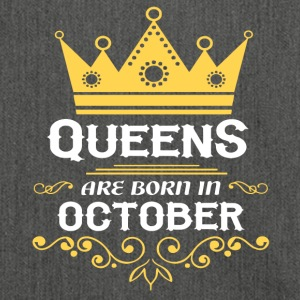 Queens are born in OCTOBER - Shoulder Bag made from recycled material