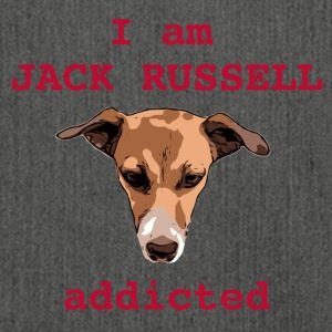 Jack russel addicted red - Shoulder Bag made from recycled material
