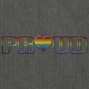 proud to be gay - Shoulder Bag made from recycled material