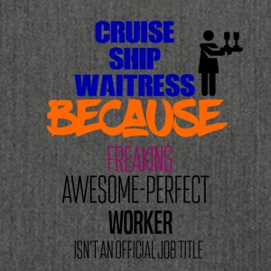 Cruise ship waitress - Shoulder Bag made from recycled material