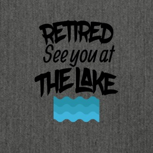 Retired lake you at the lake - Shoulder Bag made from recycled material