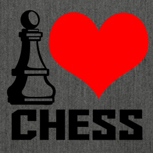 i love chess - Schultertasche aus Recycling-Material