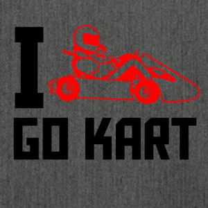 I love go kart - Schultertasche aus Recycling-Material