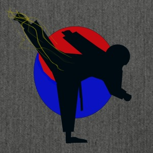 Taekwondo fighter design - Schoudertas van gerecycled materiaal