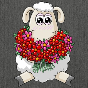 Bouquet cartoon schapen - Schoudertas van gerecycled materiaal