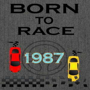 Born To Race Racing Driving 1987 - Shoulder Bag made from recycled material