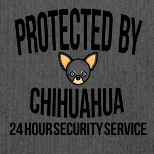 Protected by chihuahua - Shoulder Bag made from recycled material