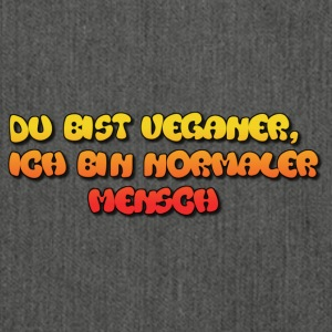 I ♥ Veganer - Schultertasche aus Recycling-Material