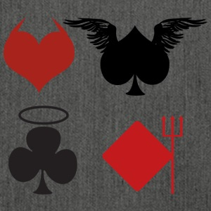 Poker Black Jack Ass Devil Devil Angel Card Casino - Skuldertaske af recycling-material