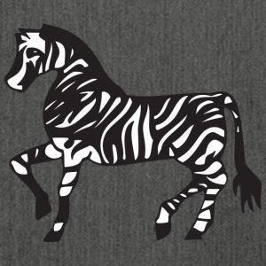 Zebra Illustration - Skuldertaske af recycling-material
