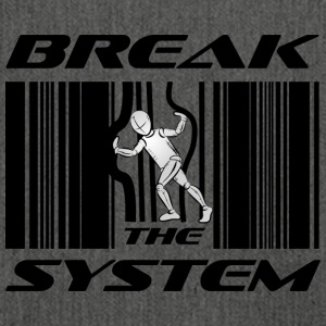 Break the System - Schultertasche aus Recycling-Material