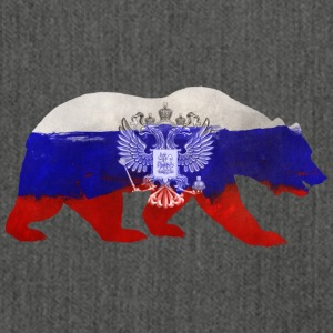 Russian bear - Shoulder Bag made from recycled material