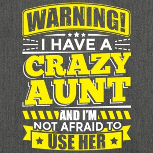 AUNT WARNING CRAZY AUNT - Shoulder Bag made from recycled material
