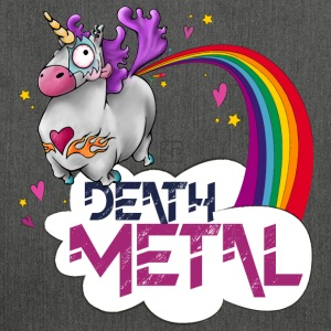 Death Metal Unicorn - Sac bandoulière 100 % recyclé