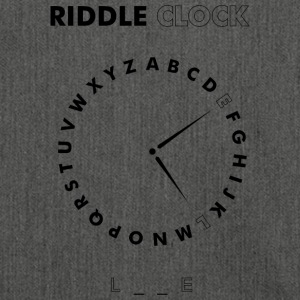 Riddle Clock Love - Schultertasche aus Recycling-Material