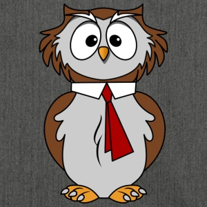 Funny owl in comic style necktie Chic - Shoulder Bag made from recycled material