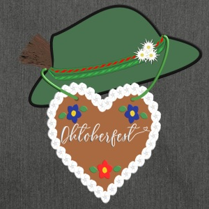 Oktoberfest gingerbread heart hat heart Munich Bavaria - Shoulder Bag made from recycled material