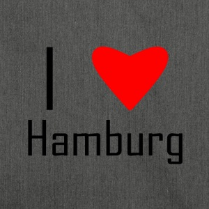 I love hamburg - Schultertasche aus Recycling-Material
