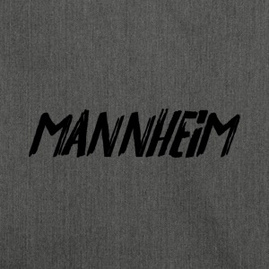 Mannheim (felt tip pen writing) - Shoulder Bag made from recycled material