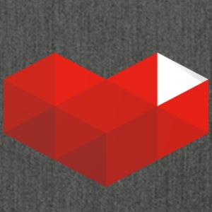 Youtube heart - Shoulder Bag made from recycled material