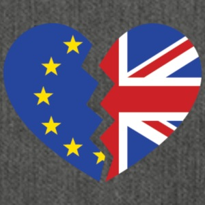 Brexit Heart - Shoulder Bag made from recycled material