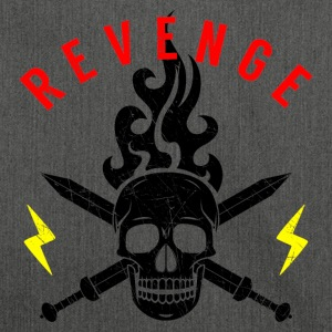 Death Head Swords Flashes Flame Revenge Rocker - Shoulder Bag made from recycled material