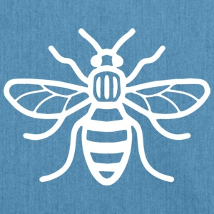 Manchester Bee (White) - Shoulder Bag made from recycled material