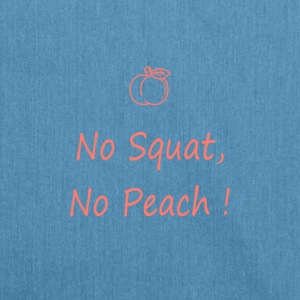 No squatting, no peach coral - Shoulder Bag made from recycled material