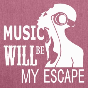 Music - My Escape - Schultertasche aus Recycling-Material