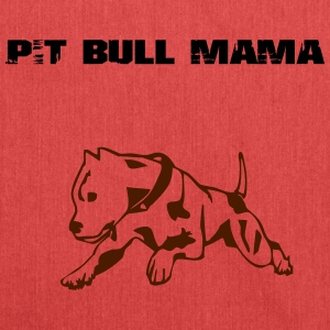 Pit Bull Mama - Schultertasche aus Recycling-Material