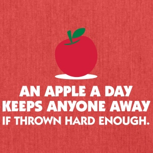 An Apple A Day Keeps Everyone Away! - Shoulder Bag made from recycled material