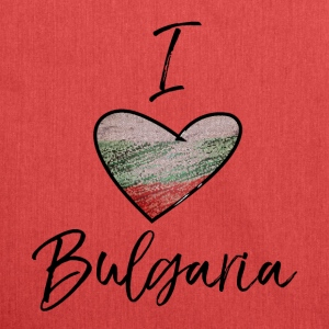 I Love Bulgaria - Shoulder Bag made from recycled material