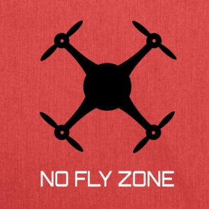 NO FLY ZONE - Schultertasche aus Recycling-Material