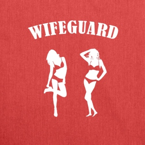 Funny Wifeguard - Shoulder Bag made from recycled material