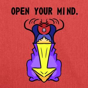 OPEN YOUR MIND. - Schultertasche aus Recycling-Material