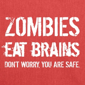 Zombies eat brains! - Shoulder Bag made from recycled material