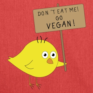 VEGAN Chick | Don't eat me | Fun Shirt Vegans - Shoulder Bag made from recycled material