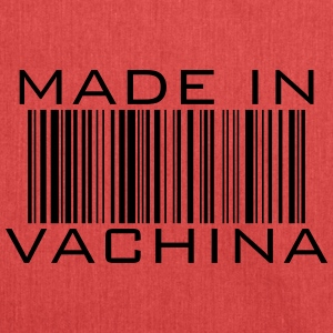 made in vachina - barcode funny saying gift - Shoulder Bag made from recycled material