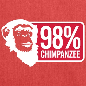 98 Chimpanzee - Shoulder Bag made from recycled material