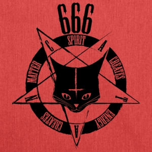 Sataniske Cat 666 - Catan - Vestlige Edition sort - Skuldertaske af recycling-material