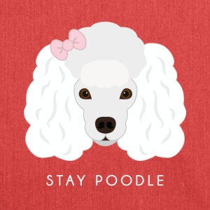Poodle White - Borsa in materiale riciclato
