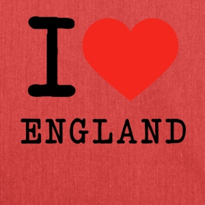 I love England - Schultertasche aus Recycling-Material