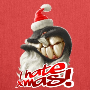 I hate Xmas - Schultertasche aus Recycling-Material